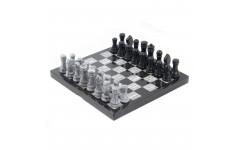 Шахматы мрамор, змеевик