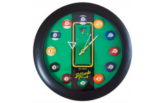 Часы настенные «12 шаров» D32 см (черные), пластик