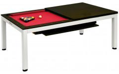 Комплект 2 в 1 «Evolution High Tech» — бильярдный обеденный стол для пула 7 ф + 2 скамьи (венге, столешница, аксессуары + сукно)