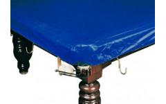 Покрывало для стола 12 ф (влагостойкое, темно-синее, резинки на лузах)