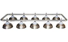 Лампа на десять плафонов «Crown» (серебряная штанга, матово-бронзовый плафон D38см)