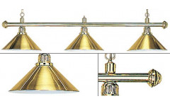 Лампа на три плафона «Elegance» (золотистая штанга, золотистый плафон D35см)