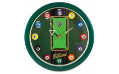 Часы настенные «12 шаров» D30 см (зеленые), пластик