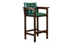 Кресло бильярдное из ясеня (мягкое сиденье + мягкая спинка, цвет черный орех)